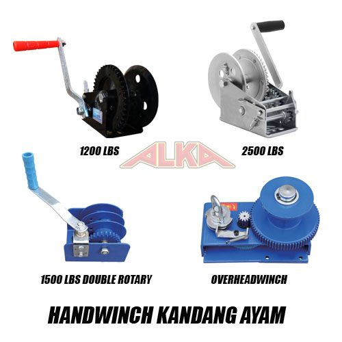 handwinch 1200lbs, handwinch 2500lbs, handwinch 1500lbs double rotary, overhead winch, handwinch kandang ayam, handwinch nipple ayam, handwinch feeding system